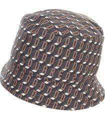 dsquared2 monogram printing nylon hat