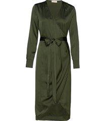 mella jurk knielengte groen custommade