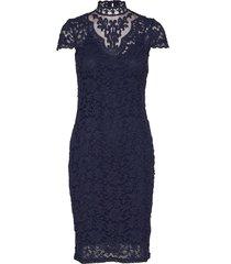 dress ss knälång klänning blå rosemunde