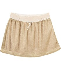 minifalda dorado  offcorss