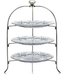godinger serveware, dublin 3-tier serving rack