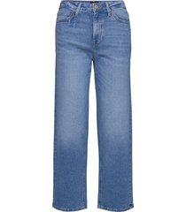 wide leg wijde broek blauw lee jeans