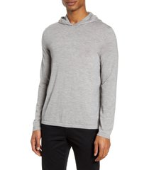 men's vince wool & cashmere pullover hoodie, size xx-large - grey
