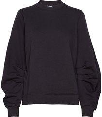 isoli sweat-shirt trui zwart ganni