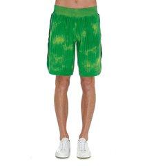 gcds tie & dye pattern shorts