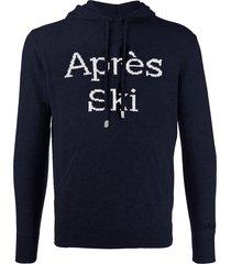après ski blended cashmere hooded sweater