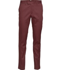 grant travel cotton chino broek rood j. lindeberg