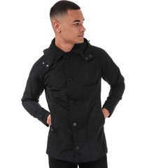 mens iconic consort hooded oxford jacket