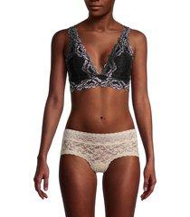 ava & aiden women's lace bralette - antique teal - size m
