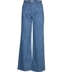 peace workwear wijde broek blauw rodebjer