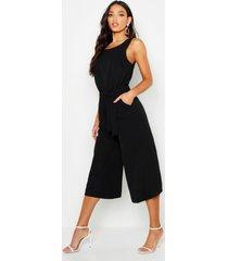 culotte jumpsuit, zwart