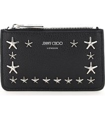 jimmy choo nancy card holder pouch star studs