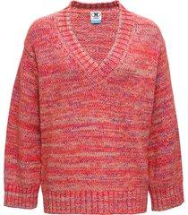 m missoni red cashmere blend sweater