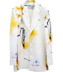 futura abstract print blazer