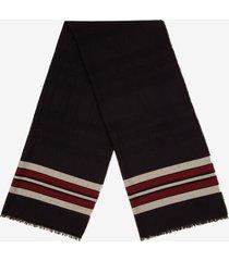 bally stripe scarf grey 1