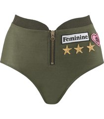 aviator high waist slip | military green - m
