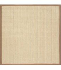 safavieh natural fiber multi and light brown 6' x 6' sisal weave square rug
