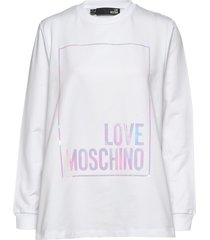 love moschino sweatshirt sweat-shirt tröja vit love moschino