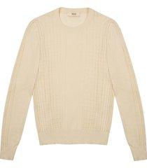 chevron sweater cotton mix top in bone