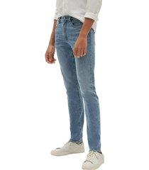 jeans slim light weight medium indigo azul gap