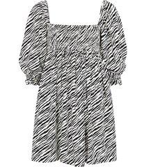alina zebra-print mini dress