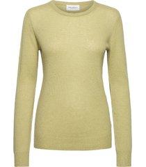 pure cashmere o-neck pullover stickad tröja gul sparkz copenhagen
