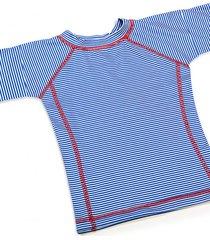 t-shirt plażowo-kąpielowy z filtrem uv 50+ blue stripe