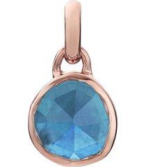 rose gold siren mini bezel pendant charm kyanite
