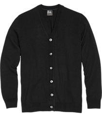 jos. a. bank traveler black modern fit merino wool cardigan