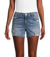 hudson women's gracie mid-rise denim shorts - casablanca - size 26 (2-4)