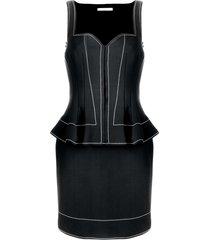 givenchy peplum waist fitted dress - black