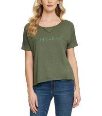 dkny jeans logo t-shirt