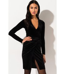 akira if i say velvet front slit midi skirt
