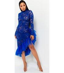 akira take a ride lace tulle maxi dress
