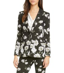 women's alice + olivia macey floral fitted blazer