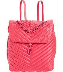 rebecca minkoff edie quilted backpack in acid pink at nordstrom