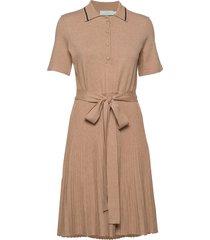 cadence knit dress jurk knielengte bruin morris lady