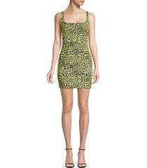 constance leopard print sheath dress