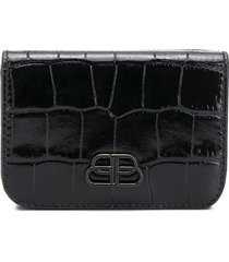 balenciaga bb mini wallet - black