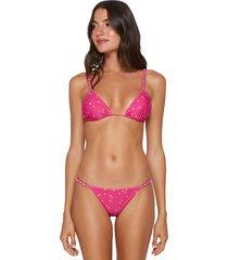 vix swimwear brigitte pink beads bikini
