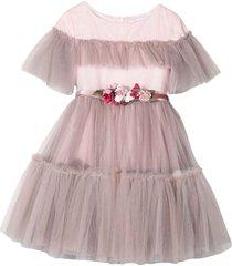 monnalisa pink dress
