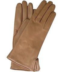 forzieri designer women's gloves, camel leather women's gloves w/cashmere lining