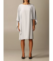 alberta ferretti dress enver satin cape