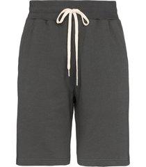 john elliott crimson cotton track shorts - grey
