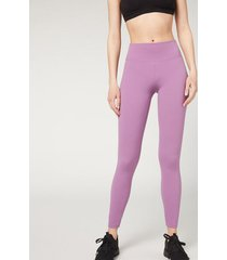 calzedonia ultra light active leggings woman violet size l