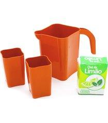 brinquedo de cozinha - mini jarra e copo 4 peças - para meninos e meninas - samba toys