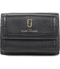 marc jacobs black mini trifold wallet