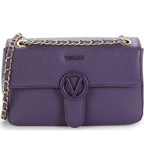 valentino by mario valentino women's antoinette leather crossbody bag - dahlia violet