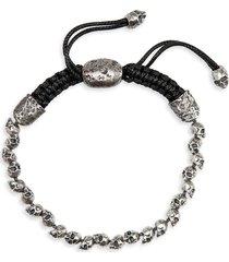 john varvatos skull bead bracelet in metallic silver at nordstrom