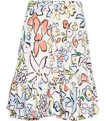 toy, 633 flowers poly knälång kjol multi/mönstrad stine goya